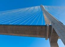 Vue de passerelle de la Normandie (Pont de Normandie, France) Images libres de droits