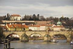 Vue de passerelle de Prague Image libre de droits