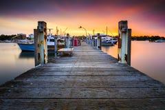 Vue de paysage au port du marché de Sydney Fish Photographie stock
