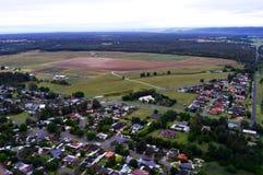 Vue de paysage de banlieue noire de Hawkesbury photos libres de droits