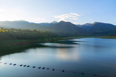 Vue de paysage de barrage Image libre de droits