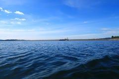Vue de paysage de barrage de rivière en Thaïlande Photo stock