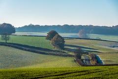 Vue de paysage de campagne au Royaume-Uni Photos libres de droits