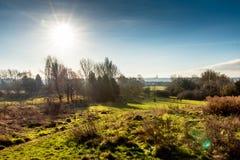 Vue de paysage de campagne au Royaume-Uni Images stock