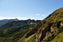 Vue de paysage de chaîne de montagne Photographie stock