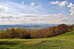 Vue de paysage de chaîne de montagne Photo stock