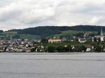 Vue de paysage de lac Zurich Image stock