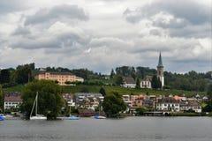 Vue de paysage de lac Zurich Photos libres de droits