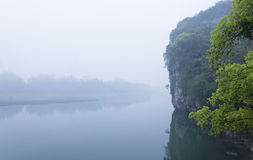 Vue de paysage de Li River Photo stock