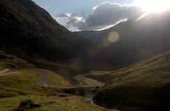 Vue de paysage de montagne de Fagaras Image stock