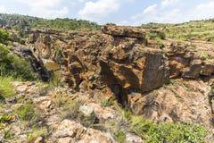 Vue de paysage de nids de poule de chance de Bourkes, Afrique du Sud Images stock