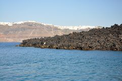 Paysage de Santorini Photographie stock