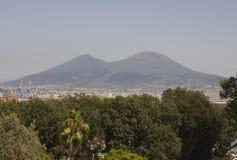 Vue de paysage de Vesuvio, Naples Image libre de droits