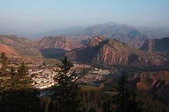 Vue de paysage de ZHAOBISHAN pendant l'aube Images stock