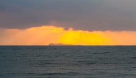 Vue de paysage marin d'île de Koh Chorakhe pendant le matin images stock