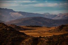 Vue de paysage de montagne de Bistra Photo stock