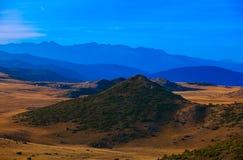 Vue de paysage de montagne de Bistra Image stock