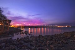 Vue de paysage de pont Indonésie de suramadu photographie stock libre de droits