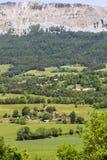 Vue de paysage près des les Alpes de Seyne près de Digne photo libre de droits