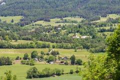 Vue de paysage près des les Alpes de Seyne près de Digne images stock