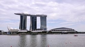 Vue de paysage de Singapour avec Marina Bay Sands à l'arrière-plan images stock