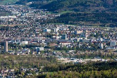 Vue de paysage urbain d'Aarau, Suisse Photographie stock libre de droits