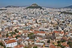 Vue de paysage urbain d'Athènes, Grèce Images stock