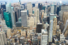 Vue de paysage urbain de Manhattan d'Empire State Building Photos stock