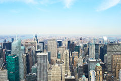 Vue de paysage urbain de Manhattan d'Empire State Building Photo stock