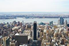 Vue de paysage urbain de Manhattan d'Empire State Building Image stock