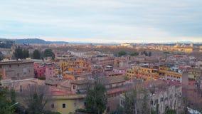 Vue de paysage urbain de Rome banque de vidéos