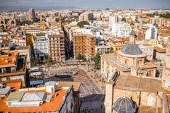 Vue de paysage urbain de Valence Photographie stock