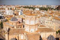 Vue de paysage urbain de Valence Images stock