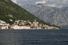 Vue de Perast Photos stock
