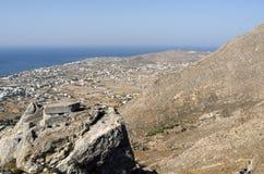 Vue de Perissa. Image libre de droits