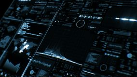 Vue de perspective d'interface/d'écran futuristes de Digital banque de vidéos