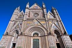 Perspective de cathédrale d'Orvieto Photo stock