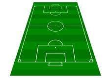 Vue de perspective de terrain de football image libre de droits