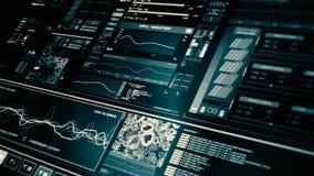 Vue de perspective de l'interface futuriste de basse puissance/de Digital screen/HUD banque de vidéos