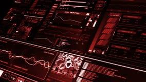Vue de perspective de l'interface futuriste rouge/de Digital screen/HUD banque de vidéos