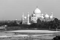 Vue de perspective sur le mausolée du Taj Mahal images stock