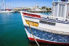 Vue de petit bateau de terre Photo stock