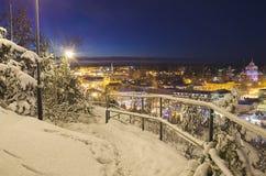 Vue de petite ville suédoise Photographie stock libre de droits