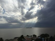 Vue de phare Colonia Uruguay photos stock