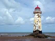 Vue de phare de Talacre Photo stock