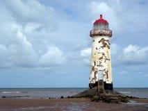 Vue de phare de Talacre photo stock