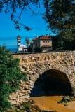 Vue de phare de Santa Marta et de musée municipal de Cascais, au Portugal photo libre de droits
