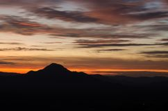 Vue de Phu Thok, Chiang Khan, Thaïlande pendant le matin Photo stock