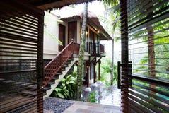 Vue de pièce de luxe de bâti de maître de ressource de Bali Photos libres de droits