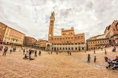 Vue de Piazza del Campo Photos libres de droits
